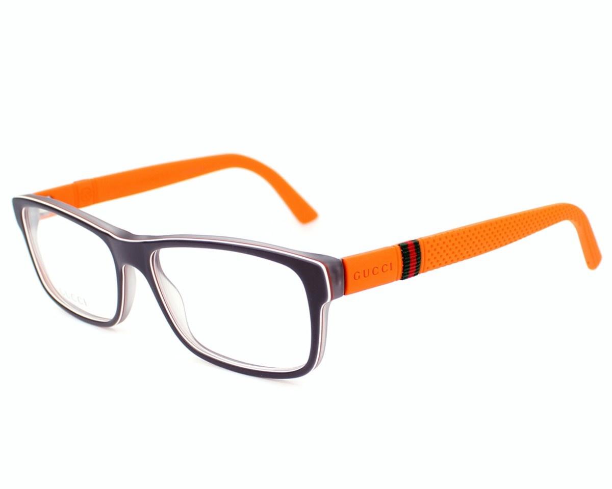 Gucci Full Frame Glasses : Eyeglasses GUCCI GG 1066 4UT 54/16 Man Noir / Orange ...